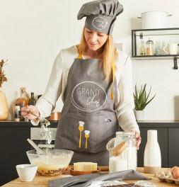 Lot tablier et toque Grand Chef Nydel