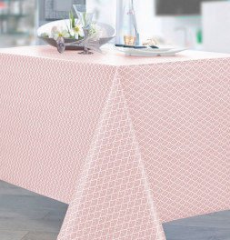 Nappe coton enduite Gatsby rose Nydel