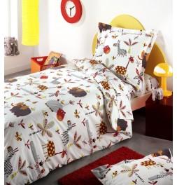 parure de lit enfant zoo. Black Bedroom Furniture Sets. Home Design Ideas