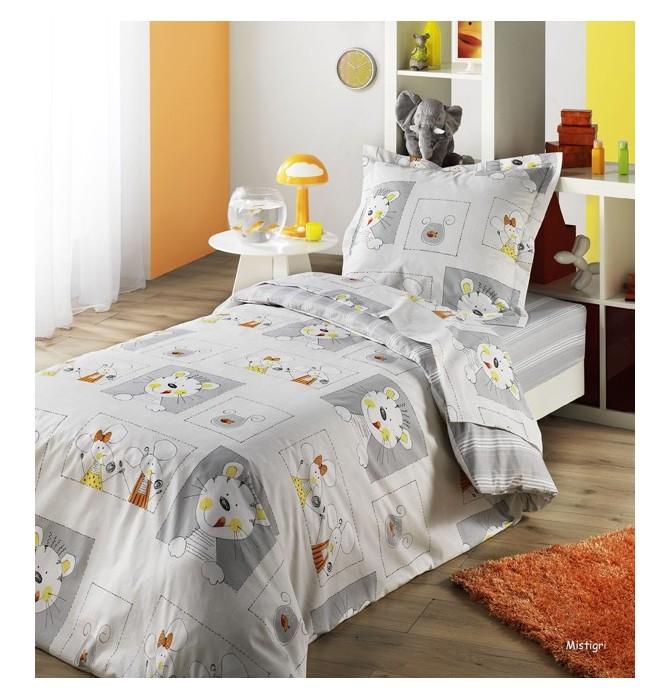 taie d 39 oreiller enfant mistigri jour de paris enfant. Black Bedroom Furniture Sets. Home Design Ideas