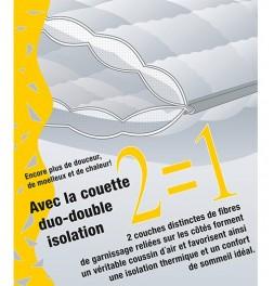 Couette laine anti-acariens double isolation 2x200g/m²