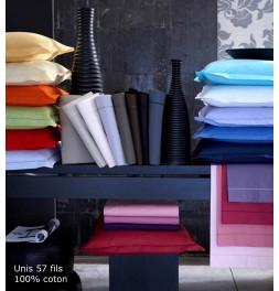 Drap coton uni 30 coloris