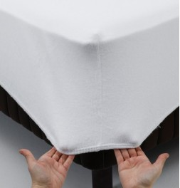 Protège-matelas molleton extensible 220g/m² - drap housse Tissage du Moulin