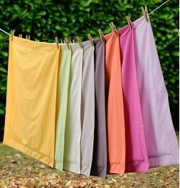 Drap coton bio uni 7 coloris