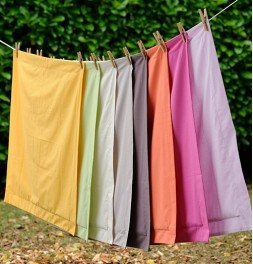 Taie d'oreiller coton bio unie 7 coloris