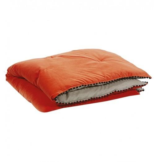 Edredon Farandole orange Autrement Dit