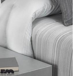 Couvre-lit matelassé jacquard et ses housses coussins Edgar gris