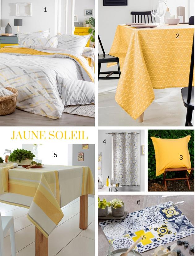 Planche déco jaune soleil