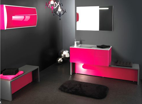 Beautiful Salle De Bain Rose Fushia Pictures  Amazing House Design