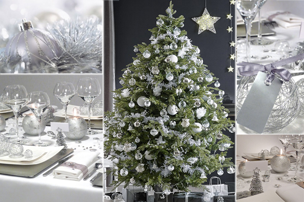 Blancollection tendances deco noel for Decoration de table de noel argent